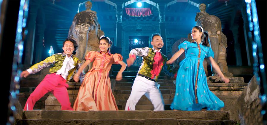 प्रेमको संगीतमा 'कान्छी मट्याङ ट्याङ'मा किरण-श्रेया, एलिना-अजयको अभिनय