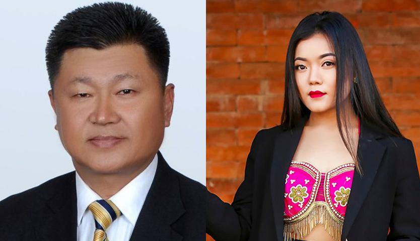 मुख्यमन्त्री राईले मोडल शेर्पासँग विवाह गर्दै
